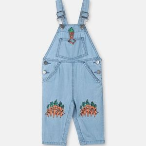 Stella McCartney Kids Veg Gang Chambray Overalls